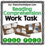 Reading Comprehension Work Task Mega Pack