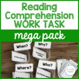 Reading Comprehension Work Task Mega Pack
