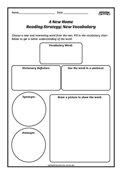 Reading Comprehension Workbook - A New Home