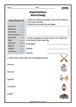 Reading Comprehension Workbook - Rapid Rafters