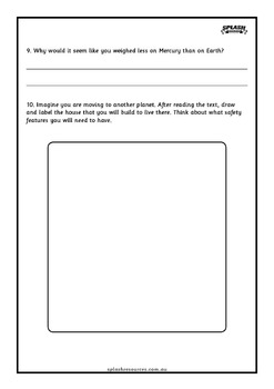 Reading Comprehension Workbook - The Solar System - Cause and Effect