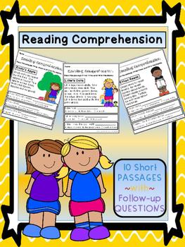 Reading Comprehension Printables