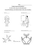 Reading Comprehension Worksheet for Olivia's Birds