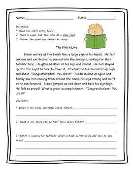 Reading Comprehension Worksheets Focus On Inference By Hrac Tpt