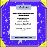 Reading Comprehension Worksheets - Inferencing, Summarizin