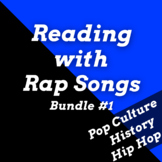 Fun Reading Comprehension Activities Using Rap Songs Mega Bundle #1