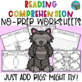 Reading Comprehension Worksheets - Pigs Might Fly - Fractured Fairy tale