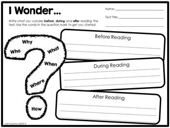 Reading Comprehension Worksheets and Graphic Organizers to Use with Any Text