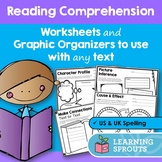 Reading Comprehension Worksheets and Graphic Organizers to