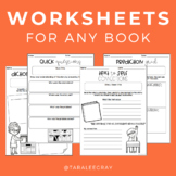 Reading Comprehension Worksheets for Any Book!