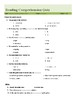 Reading Comprehension- Homework