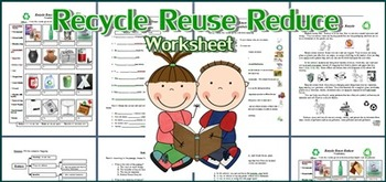 Recycle, Reuse and Reduce W... by Smiley Teacher | Teachers Pay ...