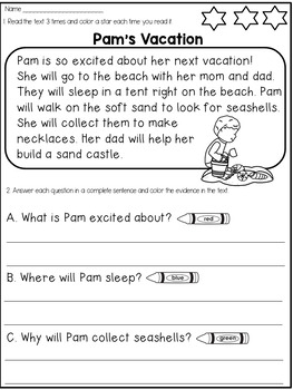 Free Reading Comprehension Passages by Dana's Wonderland | TpT