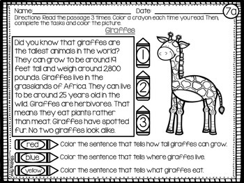 Reading Comprehension Passages Sample Pack