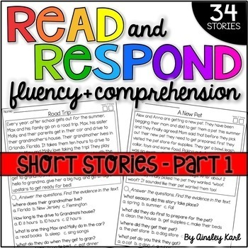 Phonics Reading Passages for Fluency and Comprehension - Fictional Short Stories