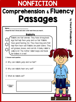 Reading Comprehension Passages for 1st and 2nd Grade