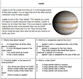 Reading Comprehension and Foundation Task Cards