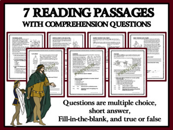 Reading Passages and Graphic Organizers - Pages, Squires and Knights