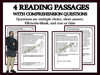 Reading Comprehension and Graphic Organizers - Roanoke: The Lost Colony