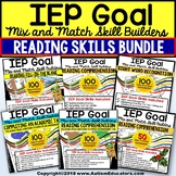 Reading Comprehension and Sight Words IEP GOAL SKILL BUILDER Bundle ONE