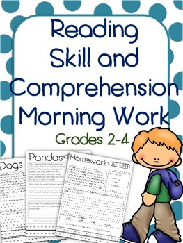 Language Arts Reading Passages Fiction and Non Fiction -Morning Work or Homework