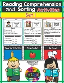 Reading Comprehension and Sorting Activities Set 1