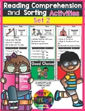Reading Comprehension and Sorting Activities Set 2