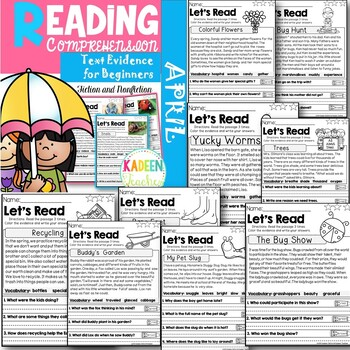 Reading Comprehension and Text Evidence for Beginners-April
