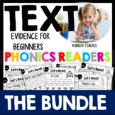 READING Comprehension and Text Evidence for Beginners-Bundle