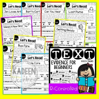 Reading Comprehension and Text Evidence for Beginners-R Controlled Readers