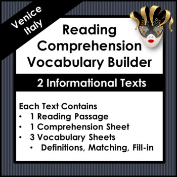 Reading Comprehension and Vocabulary Builder [Venice]