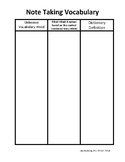 Reading Comprehension and Vocabulary Graphic Organizers