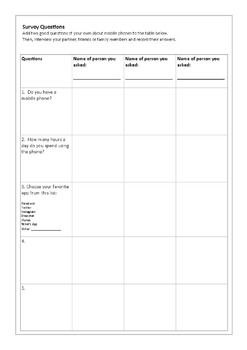 Reading Comprehension and Vocabulary Worksheet: Brief History of Mobile Phones