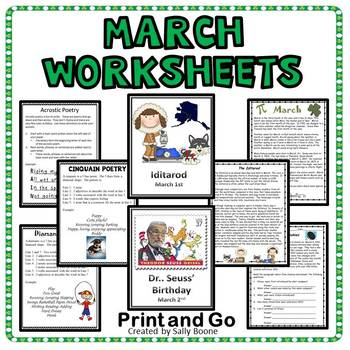 Reading Comprehension and Writing Review  March Theme