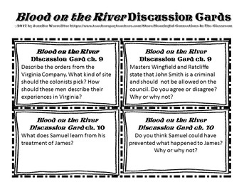 Reading Comprehension and Writing Task Cards for Blood on the River
