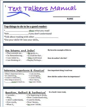 Reading Response Sentence Starters foldable