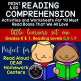 ♥K-1 Reading Comprehension Worksheets/Activities for 40 To