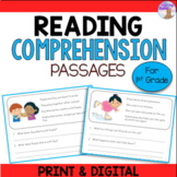 Reading Comprehension Passages and Questions (1st Grade) -