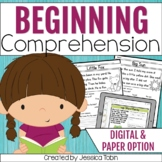 Reading Comprehension Passages for Emergent Readers with Google Slides