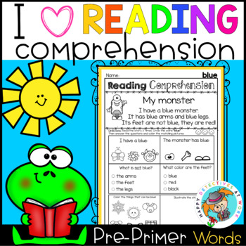 Reading Comprehension for Non-Writers (Pre-Primer Sight Words)