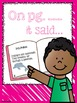 Reading Comprehension for Early Readers