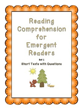 Reading Comprehension for Early Readers Set 1