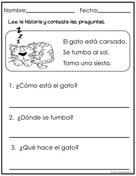 Spanish Reading Comprehension for Emergent Readers