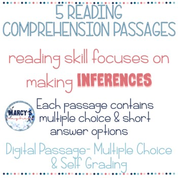 Reading Comprehension Worksheets 4th grade and 5th grade Inference practice