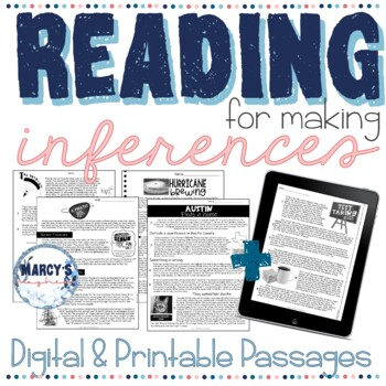 Reading Comprehension Passages 4th grade and 5th grade Inference practice