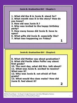 Junie B. Jones is a Graduation Girl Book Unit