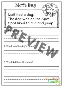 1st Grade Reading Comprehension Passages & Questions (Differentiated Stories)