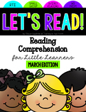 Reading Comprehension for Little Learners March Edition