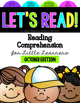 Reading Comprehension for Little Learners October Edition