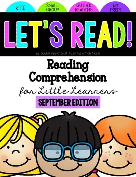 Reading Comprehension for Little Learners September Edition